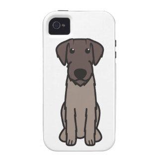 Dibujo animado Wirehaired alemán del perro del ind Case-Mate iPhone 4 Carcasa