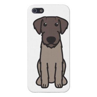Dibujo animado Wirehaired alemán del perro del ind iPhone 5 Cárcasas