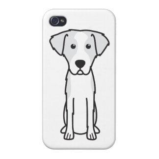 Dibujo animado Wirehaired del perro de caza de iPhone 4 Fundas