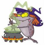dibujo animado witchy tonto del sapo de Halloween  Esculturas Fotográficas