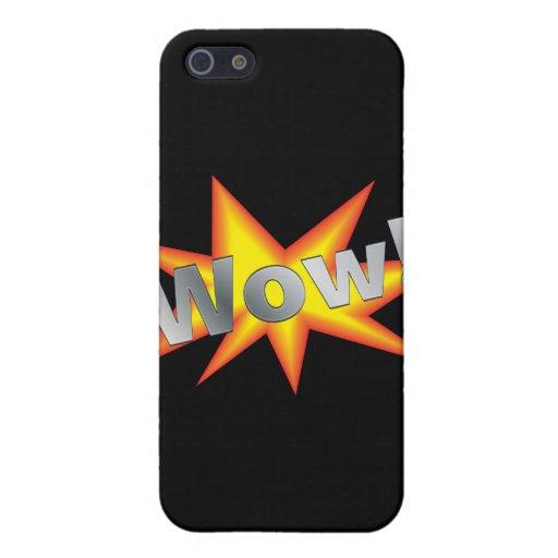Dibujo animado wow iPhone 5 cárcasa