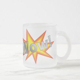Dibujo animado wow tazas de café