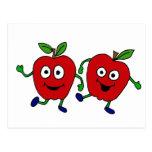 Dibujo animado XY de las manzanas del baile Tarjetas Postales