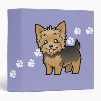 """Dibujo animado Yorkshire Terrier (pelo corto Carpeta 1 1/2"""""""