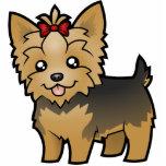 Dibujo animado Yorkshire Terrier (pelo corto con e Esculturas Fotograficas