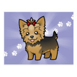 Dibujo animado Yorkshire Terrier (pelo corto con Postal