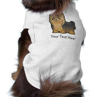 Dibujo animado Yorkshire Terrier (pelo largo con e Playera Sin Mangas Para Perro