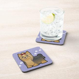 Dibujo animado Yorkshire Terrier (pelo largo con e Posavasos De Bebida