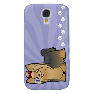 Dibujo animado Yorkshire Terrier (pelo largo con Funda Samsung S4