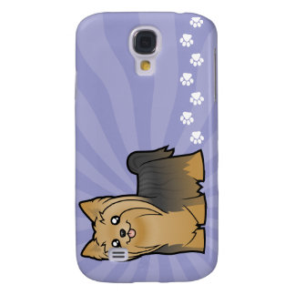 Dibujo animado Yorkshire Terrier (pelo largo Funda Samsung S4