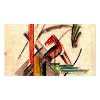 Dibujo animal del pintor del expresionista de Fran Tarjetas De Visita