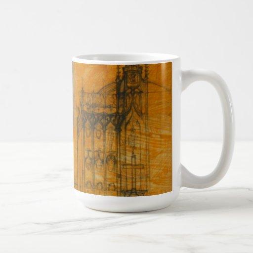 Dibujo arquitectónico - taza gótica de la iglesia