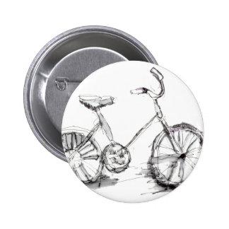 Dibujo artístico lindo de la bici pins