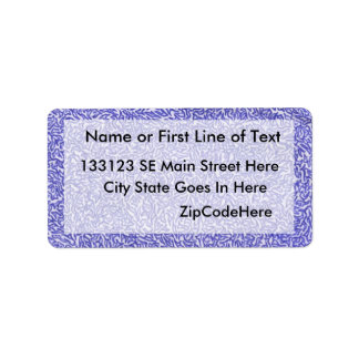 Dibujo azul y blanco de la pluma del estilo de la  etiqueta de dirección