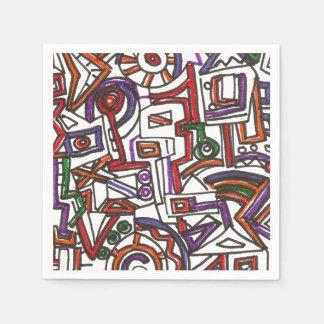 Dibujo Banal-Moderno colorido geométrico de la Servilletas De Papel