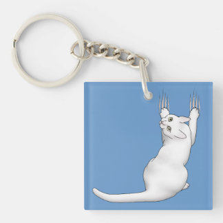 Dibujo blanco del dibujo animado del gato que