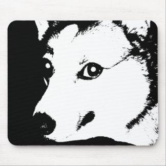 Dibujo blanco y negro de la foto del arte del mousepad