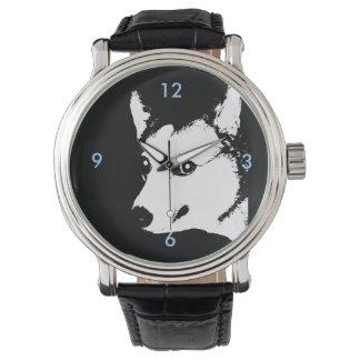 Dibujo blanco y negro de la foto del arte del reloj de mano