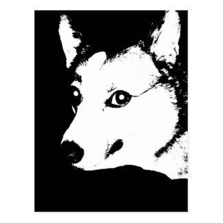 Dibujo blanco y negro de la foto del arte del tarjeta postal