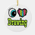 Dibujo brillante del amor del corazón I del ojo Ornamento De Reyes Magos