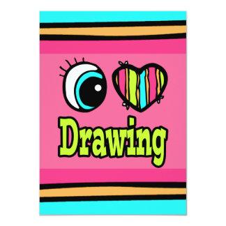 """Dibujo brillante del amor del corazón I del ojo Invitación 4.5"""" X 6.25"""""""