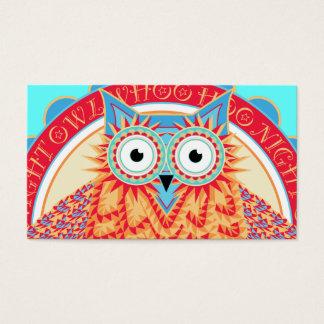 Dibujo brillantemente coloreado lindo de la tarjetas de visita