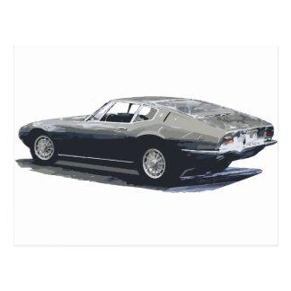 Dibujo clásico de Maserati Ghibli Tarjetas Postales