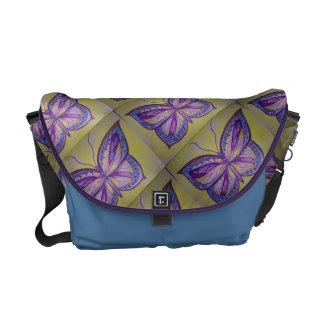 Dibujo colorido de la mariposa bolsas de mensajeria