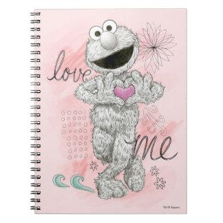 Dibujo de bosquejo de Elmo B&W Note Book