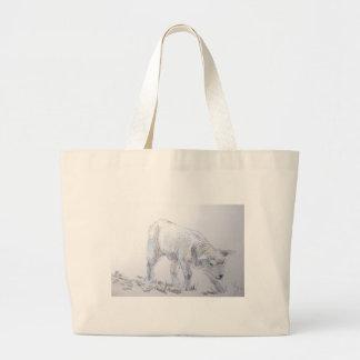 Dibujo de bosquejo del cordero bolsas