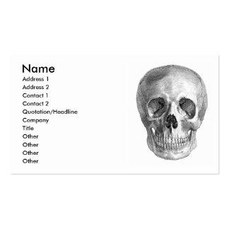 Dibujo de bosquejo humano de la anatomía del cráne plantillas de tarjetas personales