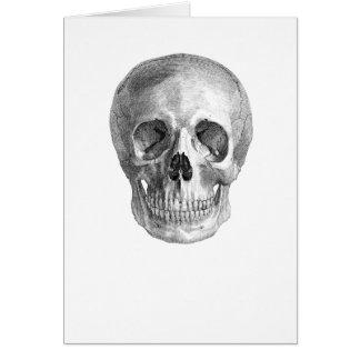 Dibujo de bosquejo humano de la anatomía del tarjeta de felicitación