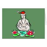 Dibujo de Buda del navidad Tarjetas