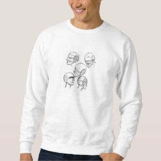 Dibujo de carbón de leña pulóver sudadera