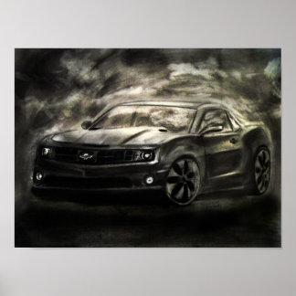 Dibujo de Chevrolet Camaro Posters