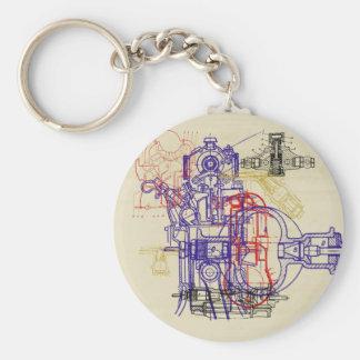 Dibujo de construcción engineering drawing llavero personalizado
