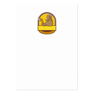 Dibujo de consumición del escudo del café de la tarjetas de visita grandes