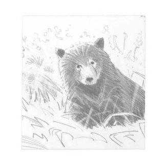 Dibujo de Cub de oso grizzly Bloc De Notas