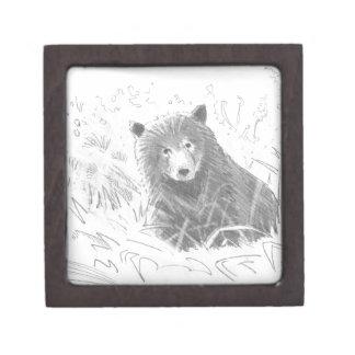 Dibujo de Cub de oso grizzly Cajas De Regalo De Calidad