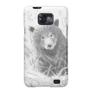 Dibujo de Cub de oso grizzly Samsung Galaxy S2 Carcasas