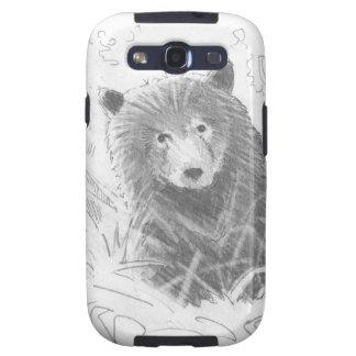 Dibujo de Cub de oso grizzly Samsung Galaxy S3 Fundas