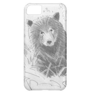 Dibujo de Cub de oso grizzly Funda Para iPhone 5C