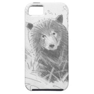 Dibujo de Cub de oso grizzly iPhone 5 Carcasas