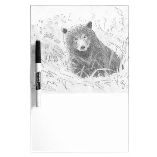 Dibujo de Cub de oso grizzly Pizarras Blancas De Calidad