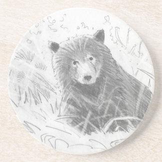 Dibujo de Cub de oso grizzly Posavasos Personalizados