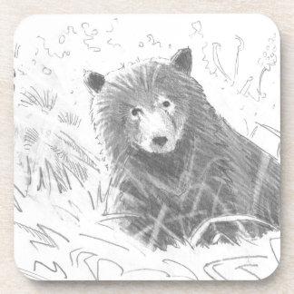 Dibujo de Cub de oso grizzly Posavasos De Bebidas
