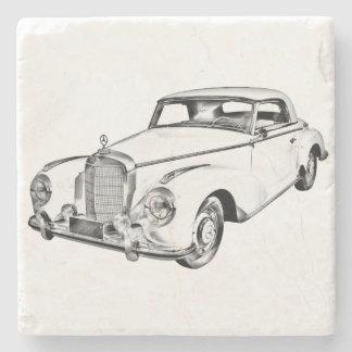 Dibujo de Digitaces del coche del lujo del Benz Posavasos De Piedra
