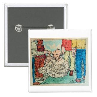 Dibujo de Don Evans 9.23.70 Pin Cuadrada 5 Cm