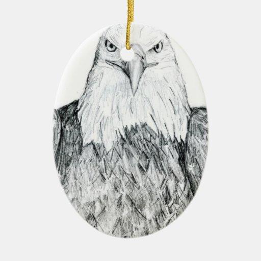 Dibujo de Eagle calvo Ornaments Para Arbol De Navidad