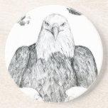 Dibujo de Eagle calvo Posavasos Personalizados